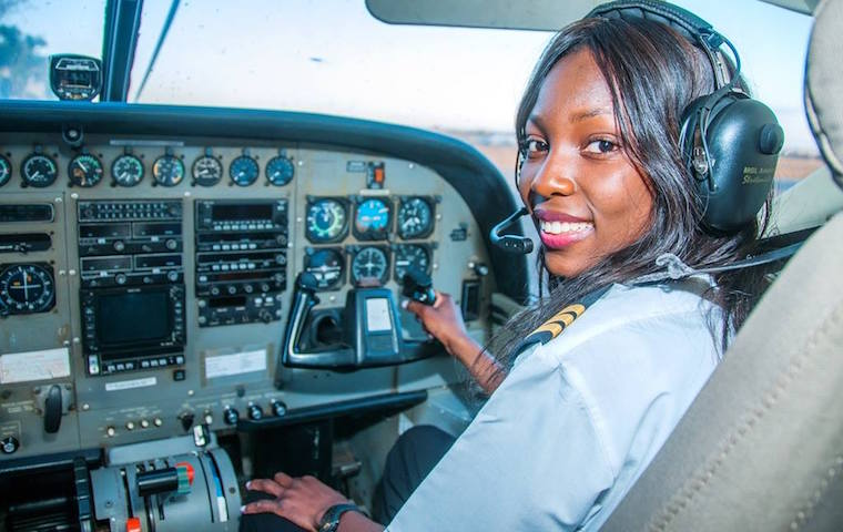 19 year Old Woman becomes Zambia's Youngest Commercial Pilot
