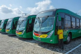 Ghanaians enjoy free rides as rapid buses hit the streets of Accra