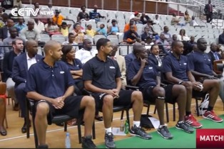 Senegalese ex-NBA star holds clinic to popularize the game