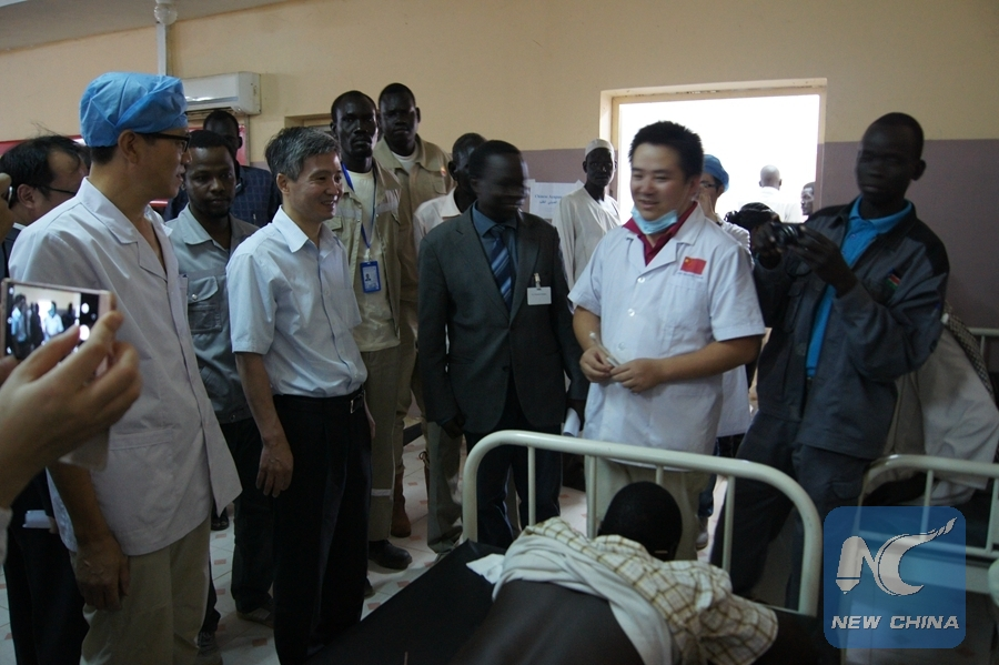 size 40 20e9c 4e1f9 Chinese Ambassador to South Sudan He Xiangdong (2nd R) hands over medical  supplies to local officials at Paloich Friendship Hospital in Upper Nile  State, ...