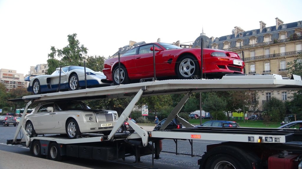 Some of the 11 luxury cars belonging to Mr. Obiang that the French police seized in September