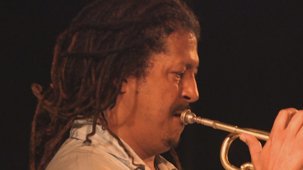 Philippe Thomas, a popular jazz trumpeter in Mauritius.