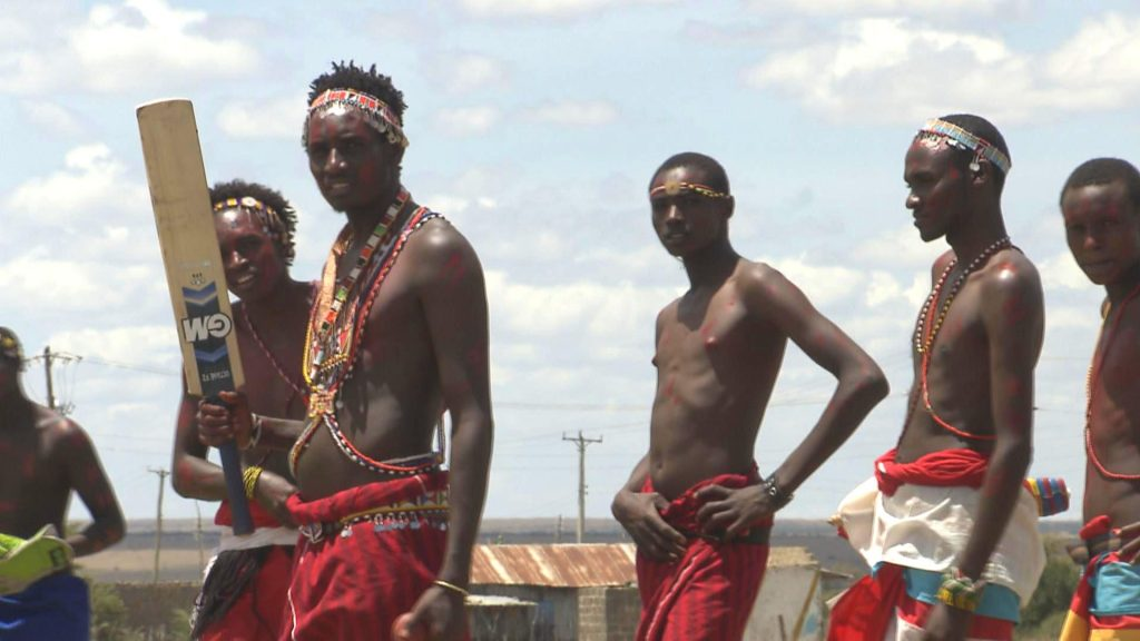 Maasai Cricket Warriors in Laikipia, Kenya.