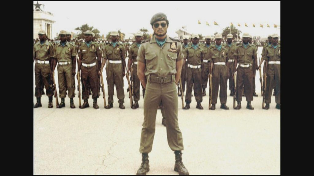 Young Rawlings as the Commander in Chief of the Armed Forces.