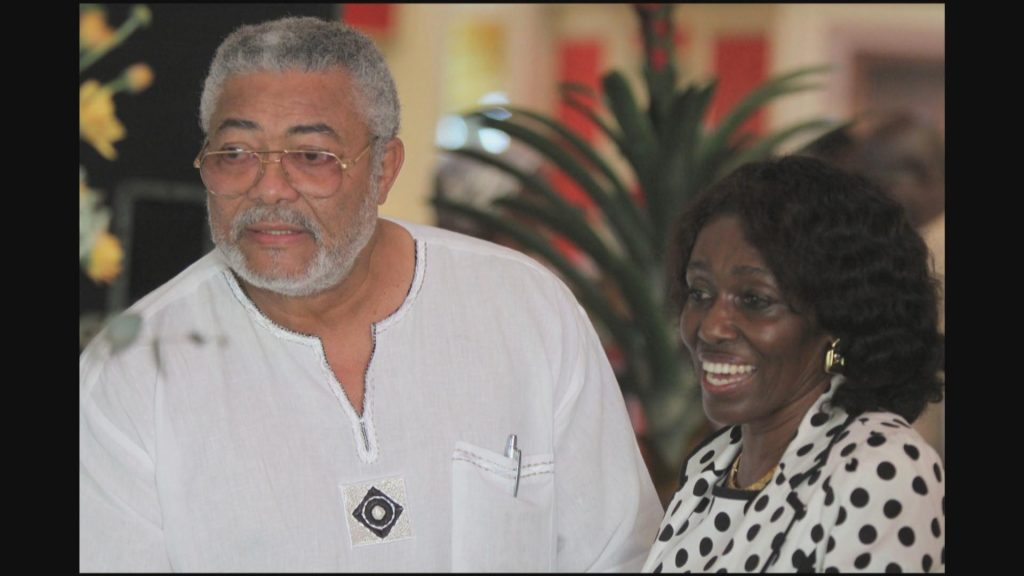 Rawlings with his wife, Dr. Nana Konadu. Together they have four children. Three girls, one boy.