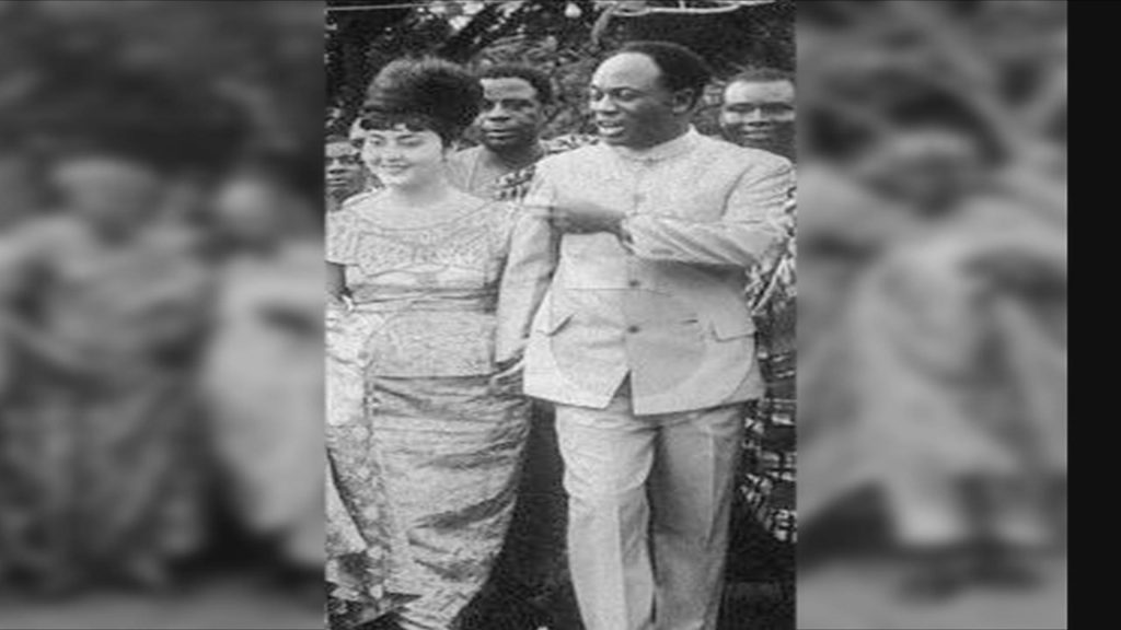 In 1957 when Nkrumah quit the bachelors club. Fathia Ritzk an Egyptian was married by Kwame a few hours after she landed in Accra from Egypt. A marriage that buffled many.