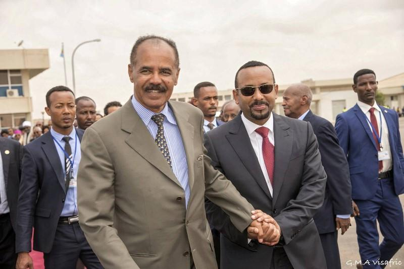 Eritrean leader arrives in Ethiopia