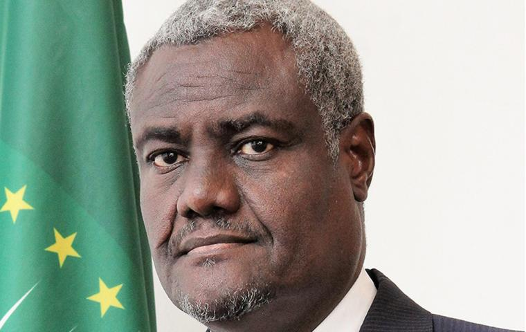 The Chairperson of the African Union Commission Moussa Faki Mahamat