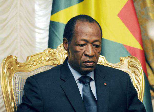Ousted president Blaise Compaore