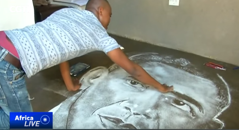 South african artist uses table salt to create unique images cgtn africa strengthening news - Unusual salt uses ...