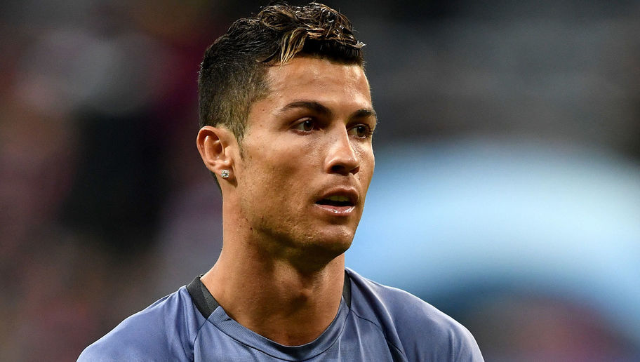 MUNICH, GERMANY - APRIL 12: Cristiano Ronaldo of Real Madrid looks on during warm up ahead of the UEFA Champions League Quarter Final first leg match between FC Bayern Muenchen and Real Madrid CF at Allianz Arena on April 12, 2017 in Munich, Germany. (Photo by Lennart Preiss/Bongarts/Getty Images)