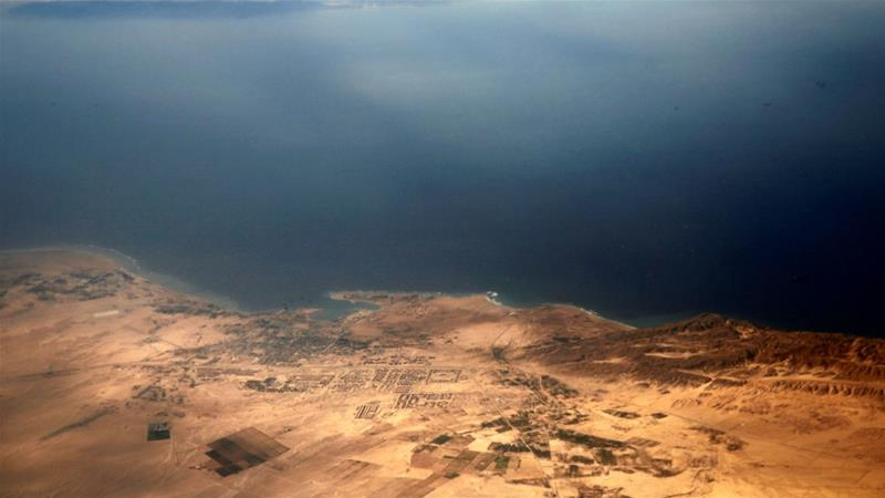 The islands in the agreement, Tiran and Sanafir, sit at the mouth of the Gulf of Aqaba. Image courtesy: Al Jazeera