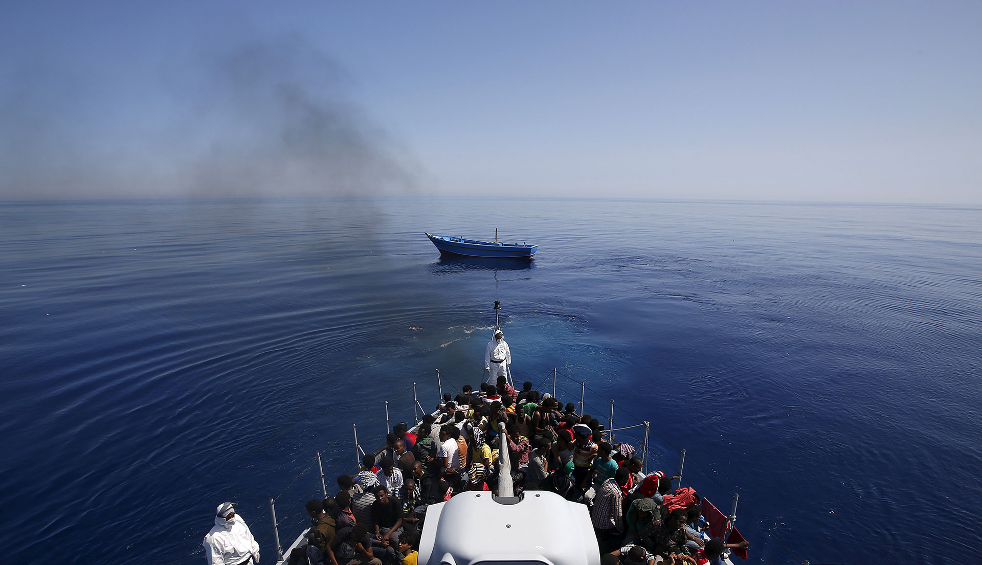 More than 200 migrants found drifting in six dinghies off Spain's southern coast were rescued on Saturday, the maritime rescue service said. Reuters