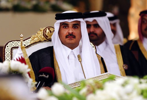 File photo, Qatar's Emir Sheikh Tamim bin Hamad Al-Thani attends a Gulf Cooperation Council summit in Doha, Qatar. Picture courtesy