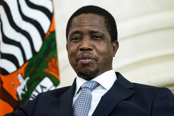 LUSAKA, ZAMBIA - November 20: Edgar Chagwa Lungu, President of Zambia, on November 20, 2015 in Lusaka, Zambia. (Photo by Thomas Trutschel/Photothek via Getty Images)