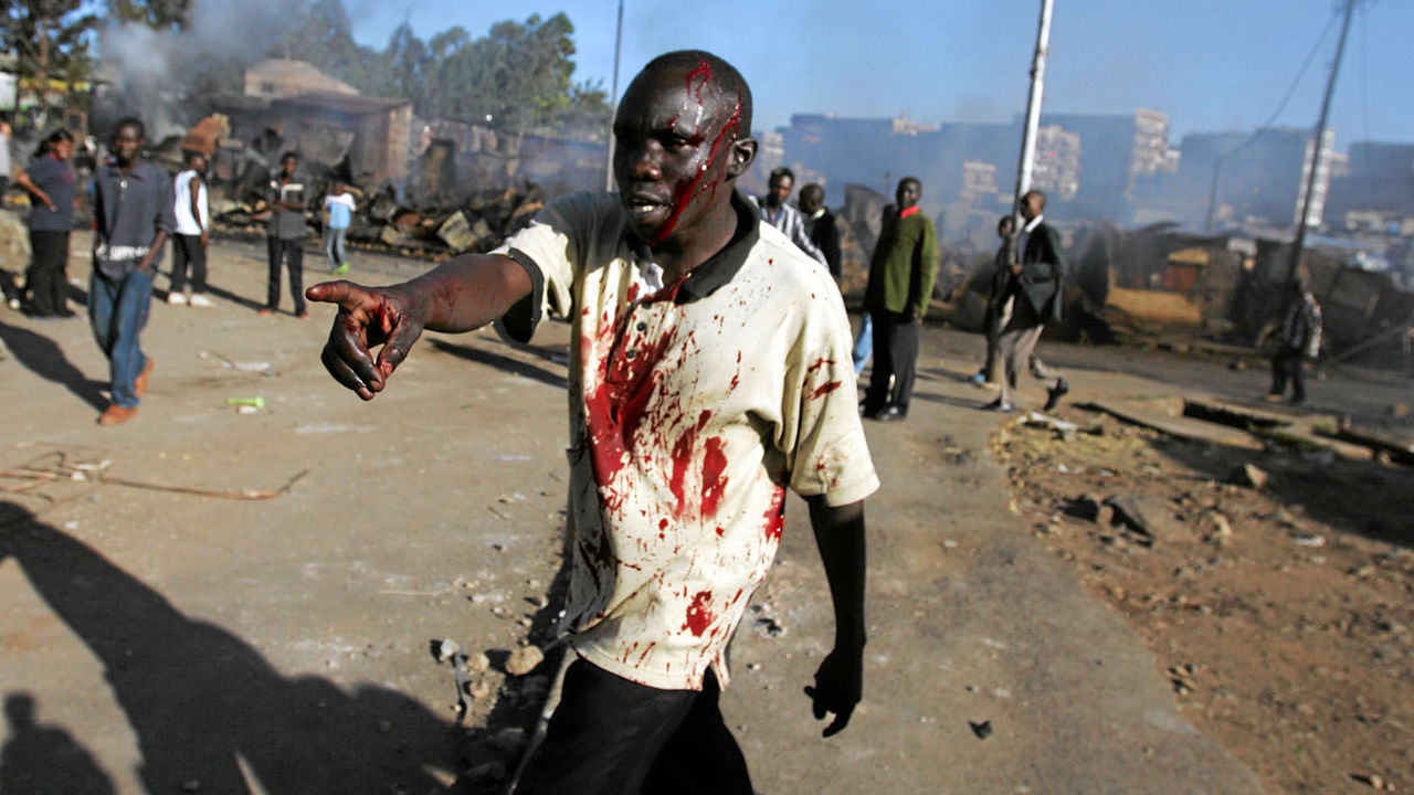 The ICC Pre-Trial Chamber notes the gravity and scale of the violence, stating that over 1,000 people are killed, over 900 acts of documented rape and sexual violence, approximately 350,000 people displaced, and over 3,500 seriously injured from the violence. Image courtesy: Mail & Guardian