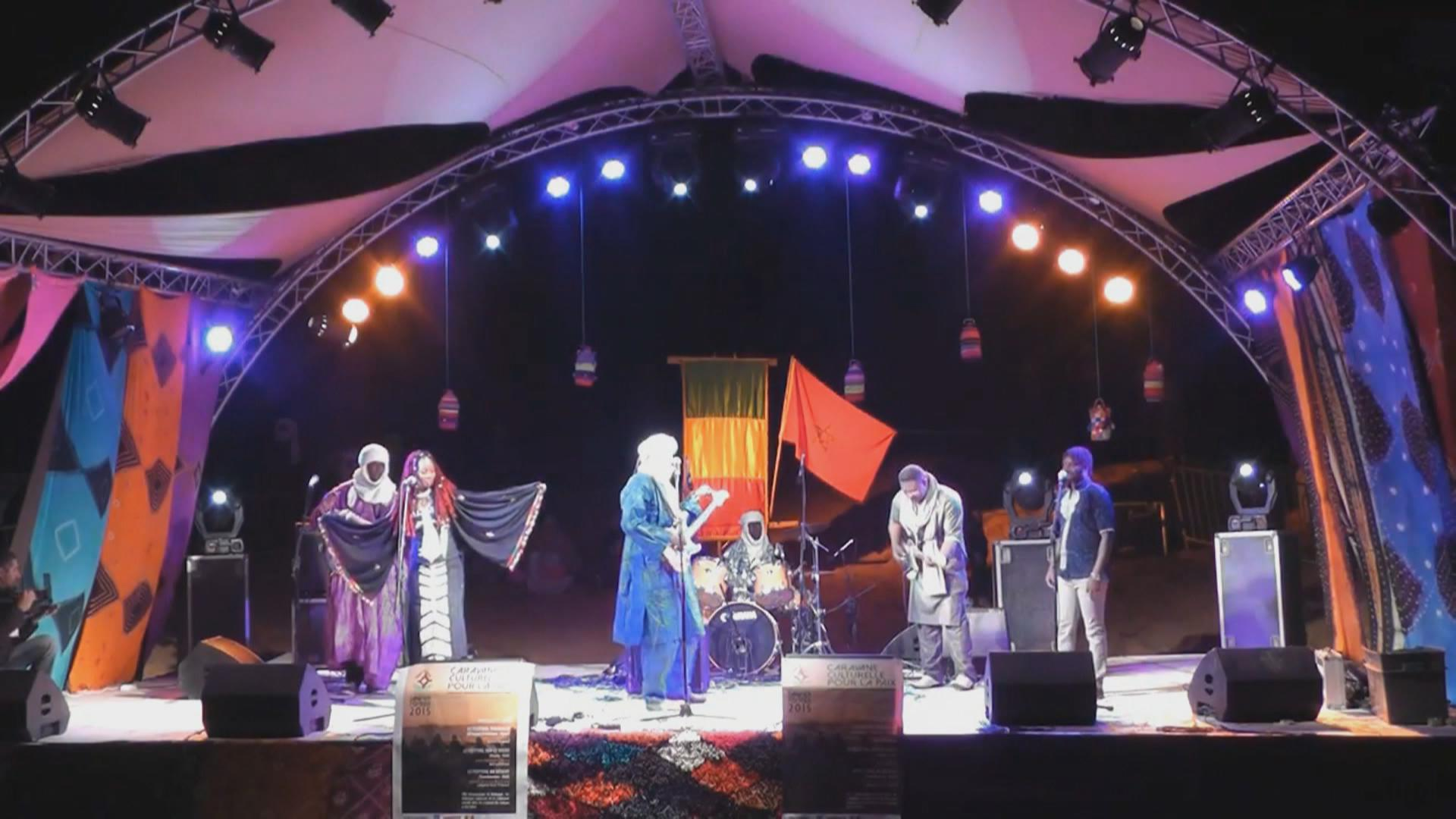 Ahmed and his band performing in Berlin, Germany.
