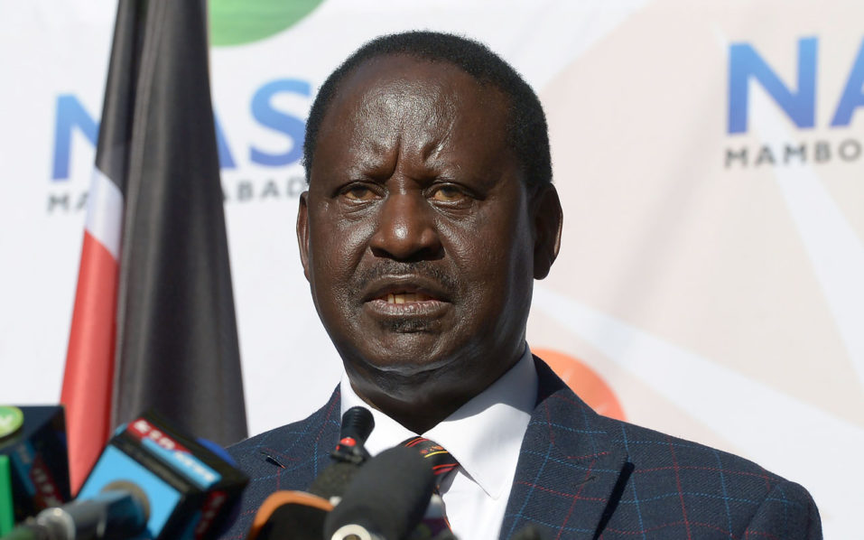 """Opposition leader Raila Odinga's National Super Alliance (NASA) said in a petition filed on Friday that results from more than a third of polling stations were """"fatally flawed"""", in some cases because of irregularities in electronic transmission of paper results forms. Image courtesy: Guardian Nigeria"""