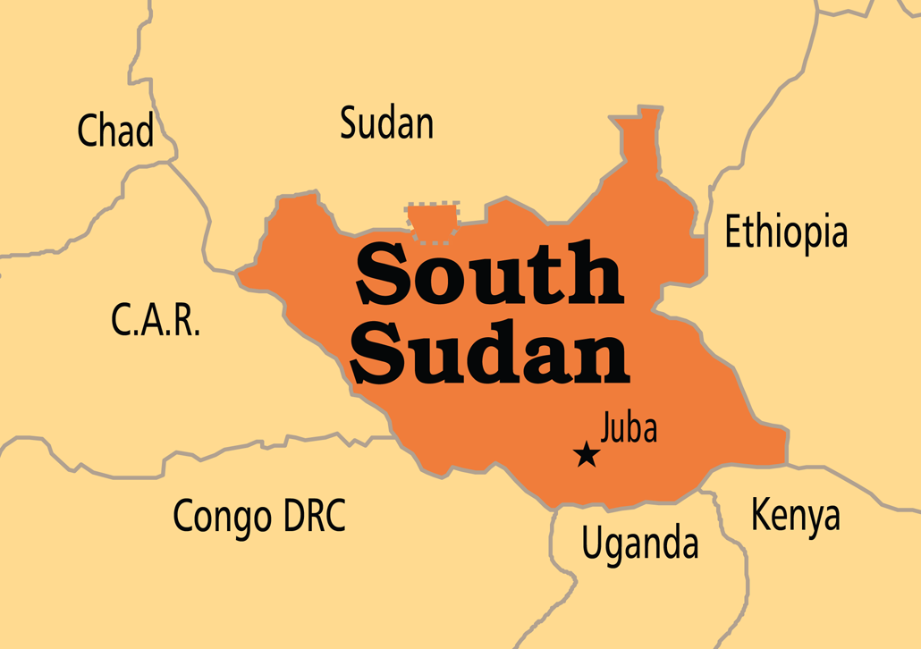 Political Map Of South Sudan.South Sudan Warring Parties Sign Igad Ceasefire Deal In Ethiopia