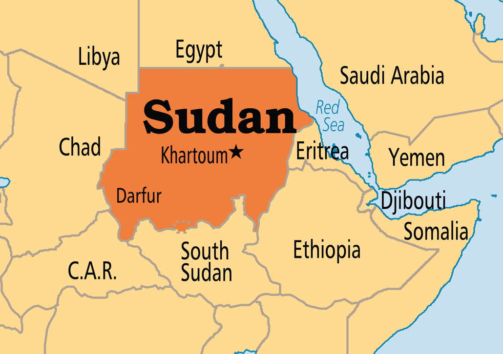 Sudan Denies Tension With Eritrea Amid Troop Deployment To Border - Sudan map