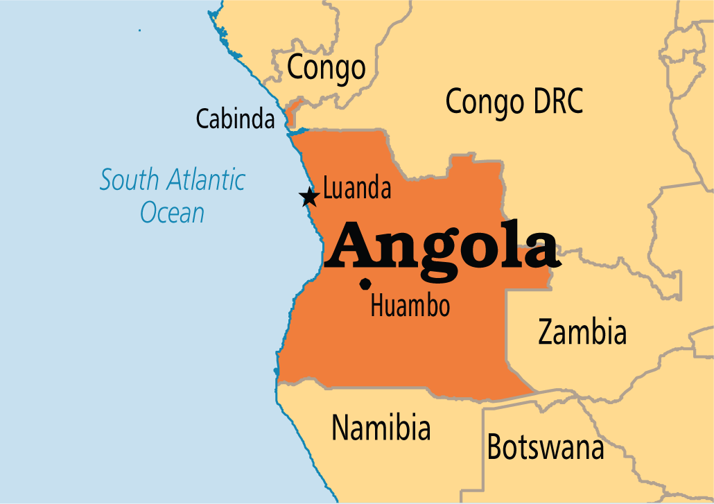 Angola On Africa Map.Angola Closes Border With Drc To Contain Ebola Cgtn Africa