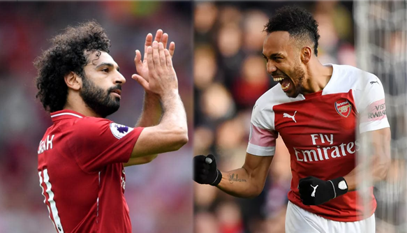 Aubameyang, Salah continue neck-to-neck race for PL top