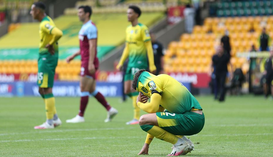 Norwich City relegated from Premier League after 4-0 loss to West ...