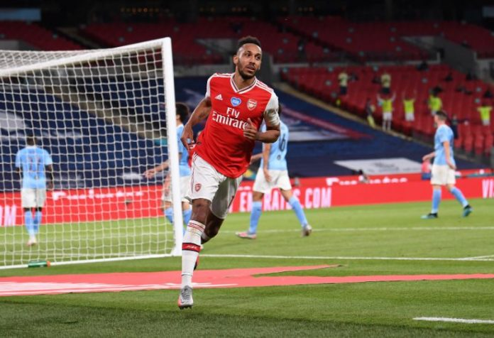 Aubameyang at the double as Arsenal stun FA Cup holders ...