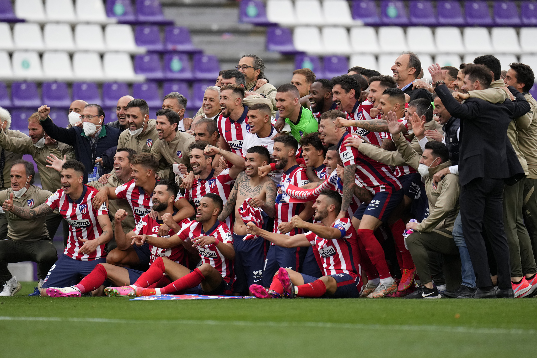 How Atletico Madrid won the La Liga title this season? | CricketSoccer Some five thousand.  gathered