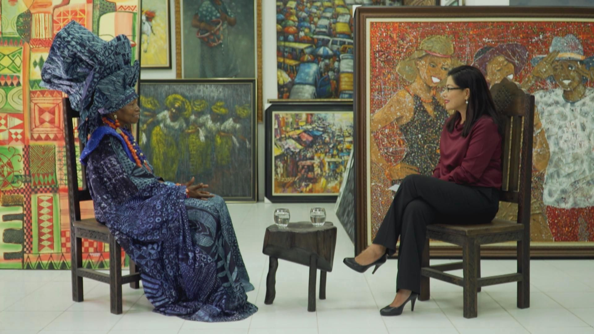 Talk Africa: Conversation with chief Nike Okundaye, Africa's queen of textile