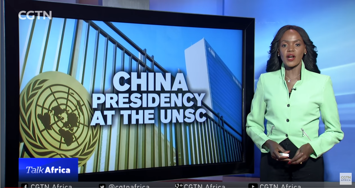 Talk Africa: China's Presidency at the UNSC